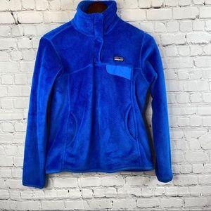 PATAGONIA Vibrant Blue Quarter Snap Pullover S